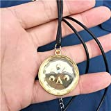 Momoso_Store legend of zelda ocarina of time medallions light medallion necklace keychain alloy pendant cosplay gift
