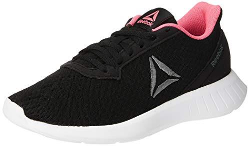Reebok Lite, Scarpe da Trail Running Donna, Multicolore (Black/White/Solar Pink/Alloy 000), 38 1/3 EU