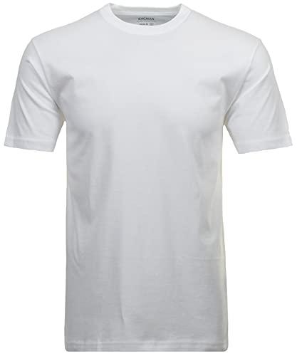 Ragman Herren Doppelpack - 2 T-Shirts mit Rundhals, Weiß, 3XL
