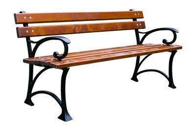 Krakwood Einzigartige neue Parkbank Love Seat Gartenmöbel Gusseisen aus Holz
