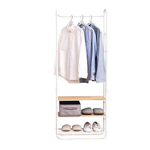 Lipenli Simple Wardrobe Perchero autoportante ropa perchero colgantes del estante de stands Bastidores Coat Hall Tree for la chaqueta paraguas de vestir sombreros de la bufanda y bolsos
