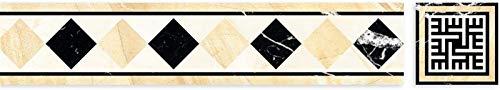 Pegatinas de Azulejos Peel and Stick Wave Wire Stickers Decoración de la Pared 3D Etiquetas engomadas de la Teja Impermeable y Resistente a la Cintura Pegatina (Color : Style 2)