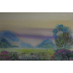 """Zartes lila auf der Wiese"" / Aquarellbild / 30 x 40 cm (Bild 20 x 30 cm)"