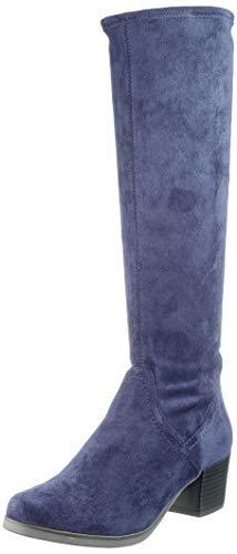 CAPRICE Damen Bella Hohe Stiefel, Blau (Ocean Stretch 870), 40 EU