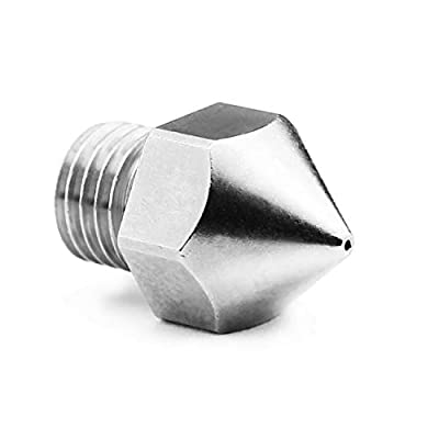 Micro Swiss Plated Wear Resistant Nozzle for Creality CR-10S Pro/CR-10 MAX Original hotend ONLY (M6x.75mm Threads) .6mm