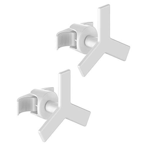 2 Handy minimal buisvormige - witte handdoekrekken voor buisvormige radiator met meerdere kolommen - ze worden rechtstreeks op de buisvormige radiator bevestigd - Star