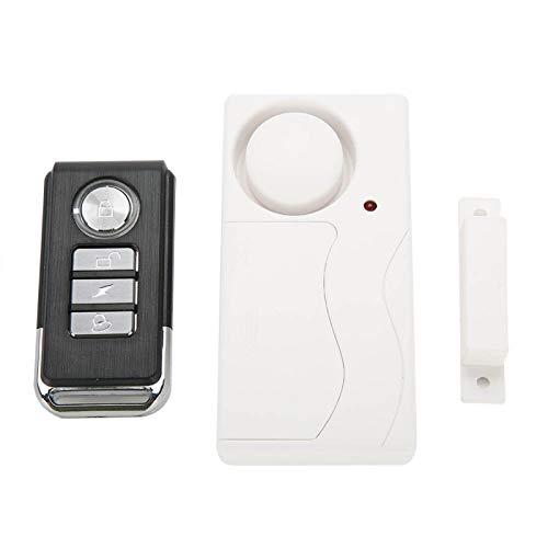 DPYF Interruptor de detección de Sensor inalámbrico de Ajuste de Contacto magnético de Puerta y Ventana con Control Remoto