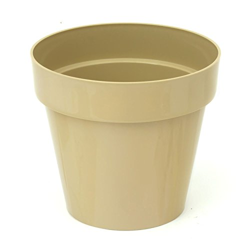1,2 Liter Blumentopf Übertopf D 140 mm kaffee glänzend oberer Kant Fensterbank Pflanztopf