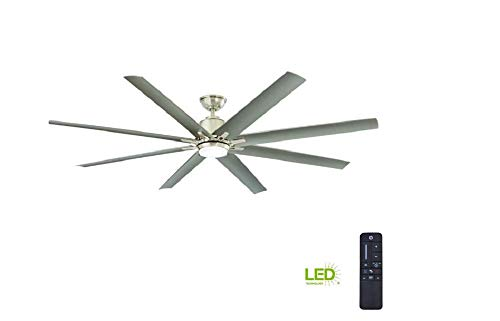 Home Decorators Collection Kensgrove 72 in. Brushed Nickel LED Ceiling Fan - With Remote