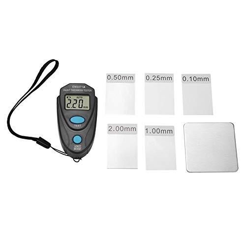 Wolfgo Lackdickenmessgerät-Mini Lackdickenmessgerät LCD-Digitalanzeige Auto Schichtdickenmessgerät Messgerät