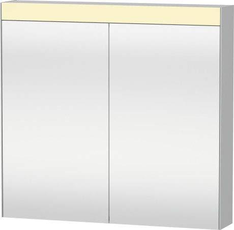 Duravit Best Armario con Espejo de 810 mm, 2 Puertas de Espejo, sólo para Montaje en Superficie - LM784100000