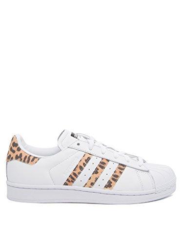 adidas Damen Superstar Sneaker, Weiß (Weiß Weiß), 40 2/3 EU
