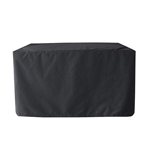 Furniture Cover Garden Furniture Covers Garden Furniture Cover Rectangular Table Cover Waterproof Dustproof Black Heavy Duty Outdoor, 4 (Color : Black, Size : 125X125X75cm)