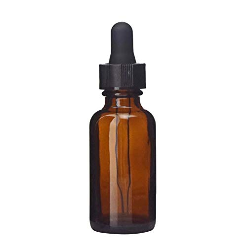 SOLUSTRE Botellas de Aceites Esenciales Frascos de Vidrio Ámbar Recipiente de Perfume Portátil Vacío con Gotero para Aromaterapia 15ML