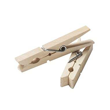 Household Essentials Classic Birchwood Clothespins, Bag of 96