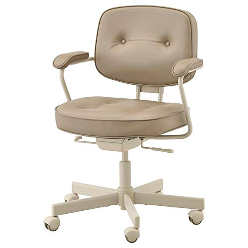 BestOnlineDeals01 ALEFJÄLL Silla de oficina, color beige grann, 64x64x95 cm, resistente y fácil de cuidar, sillas de oficina, sillas de escritorio, sillas, muebles, respetuoso con el medio ambiente.