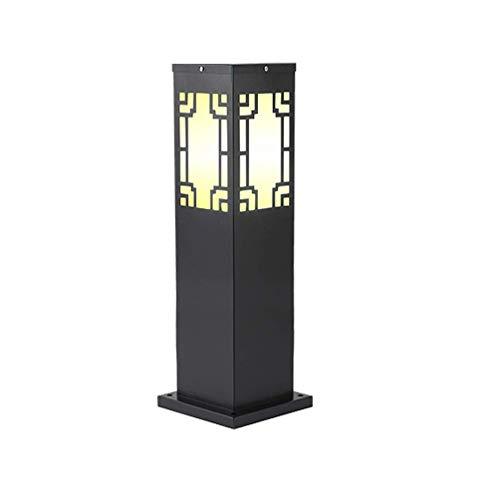 XHH Modern Garden Lamp Post, E27 Waterproof Post Pillar Lamp Outdoor Bollard Lamp Post Light Square Aluminum Path Light Courtyard Terr(Retro simple all-match)