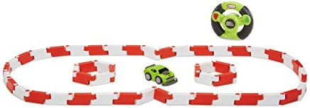 Little Tikes YouDrive Flex Tracks Green Muscle Car w/ Easy Steering RC, Multicolored