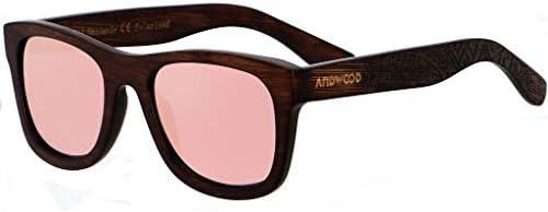Bamboo Sunglasses Floating for Men Women Wood Sunglass Wooden Frame Polarized Vintage Black product image