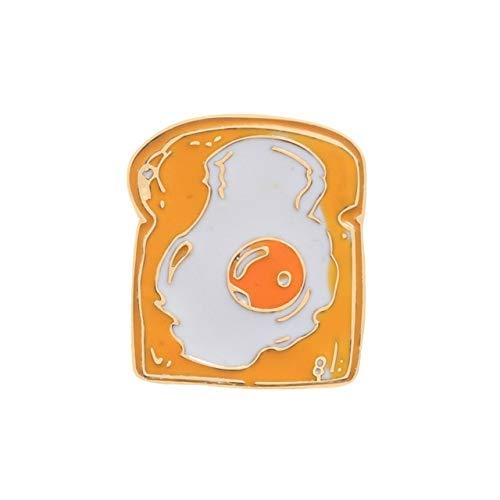 WEHONG Cartoon Toast Brot Milch Omelett Ei Broschen Abzeichen Denim Shirt Mantel Anstecknadeln Geschenke Emaille Pin China Brot