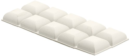 Prime-Line Products M 6027 - Juego de parachoques para bañera (parte trasera adhesiva), color blanco