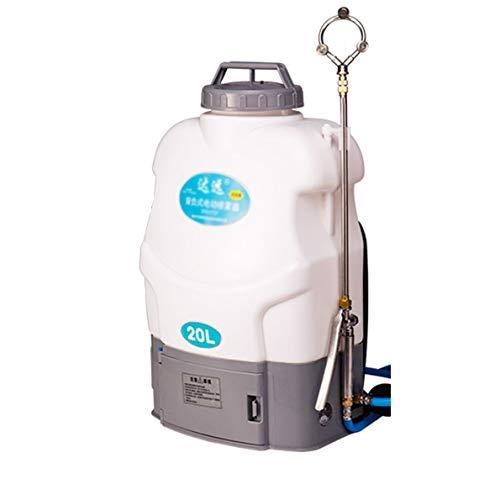 DFEO Pulverizador De Presión, Eléctrico Rociador Pulverizador De Mochila Bomba De Pulverizador De Malezas, Batería de Litio Extraíble, Ideal con Herbicidas Pesticidas Insecticidas, 20L