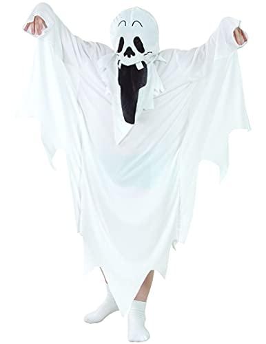 DEGUISE TOI Déguisement fantôme Halloween Enfant - Blanc - S 4-6 Ans (110-120 cm)