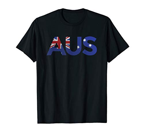 AUS Australia Flag Flagge Fahne Australien Karte T-Shirt T-Shirt