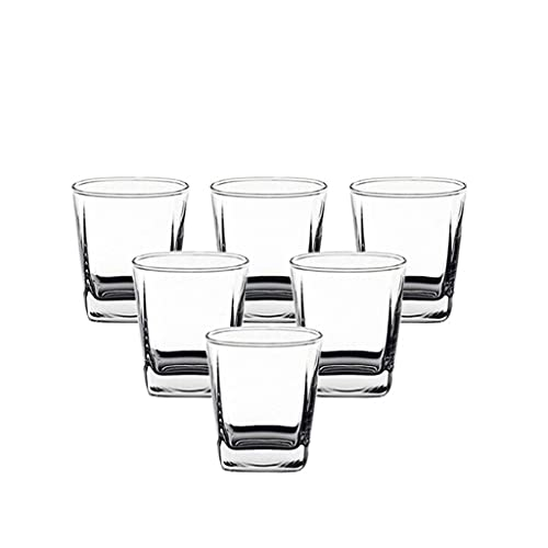 Vidrio Hexágono Whisky Vidrio Cerveza Taza Vidrio Taza de agua Ocean Vino Copa de vino Brandy Cup Thicken (Size : Medium)