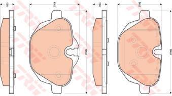 TRW GDB1840 - Pastillas de freno de disco para eje trasero