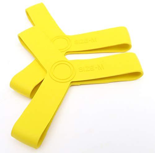 Namvo 1 par S de aletas de silicona para natación, buceo, buceo, esnórquel, aletas