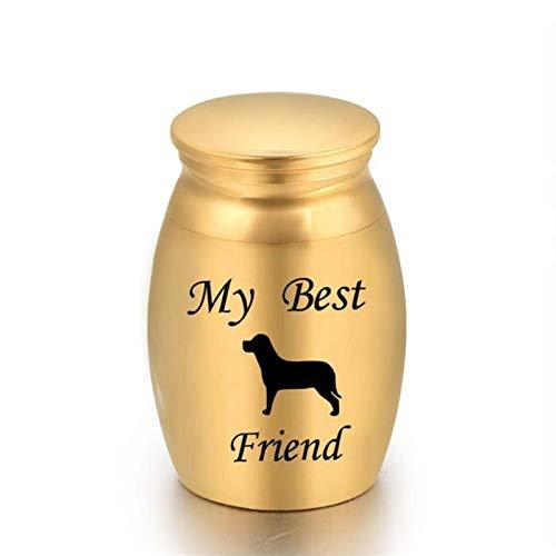 kengbi Urna Mascota Personalizada y Exquisita Cremación de Mascotas Ashes URN Metal Memorial Memorial Weeksake Dog Cat Dog Cat Place Claus (Color : Dark Khaki)