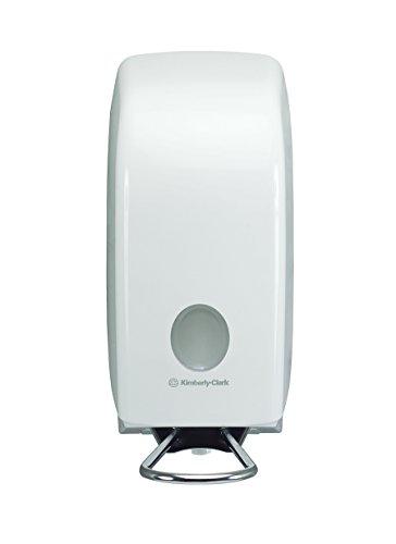 Aquarius wandmontierter Seifenspender für Handseife, Kompatibel mit 1 L Seifenkartuschen (separat erhältlich), Weiß, 6955