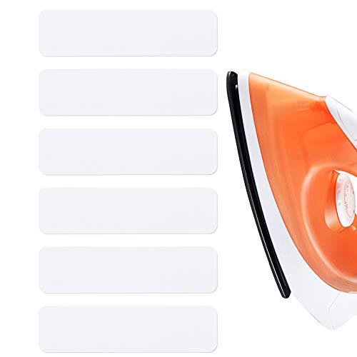 LUTER 100 Piezas Etiquetas Termoadhesivos para Ropa, Etiquetas de Tela Personalizadas para Adornos Uniformes Marcar la Ropa con Plancha. - Blanco