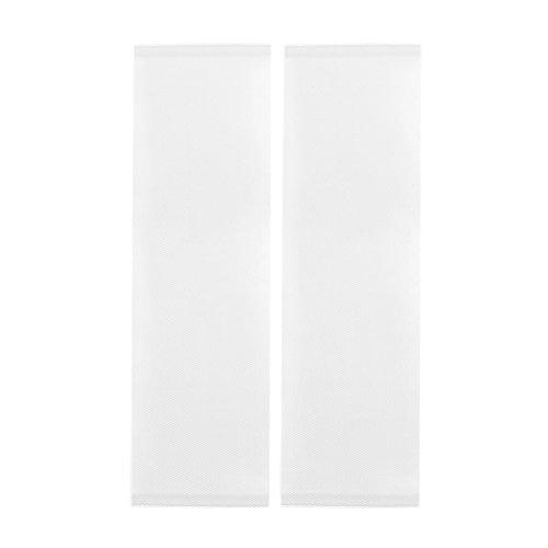 Jarolift Arioso Fliegengitter Tür Balkontür Insektenschutz Fliegenvorhang ohne Bohren, Höhe und Breite kürzbar, 2-teilig, 2 x 75 x 220 cm, Weiß
