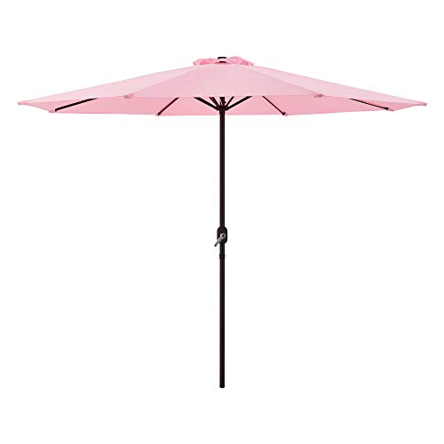 casa.pro Sonnenschirm Stahl/Polyester Kurbelschirm Gartenschirm 230x300cm Pastellrosa