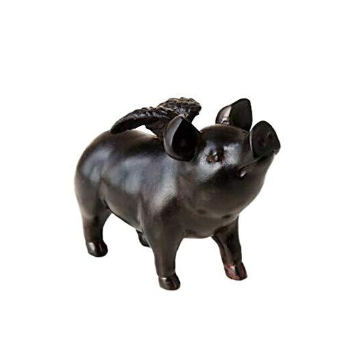Ertyuk-Decor Statues Outdoor Garden Animal Figurines Ornaments Sculptures gift Angel Little Flying Pig Garden Statue