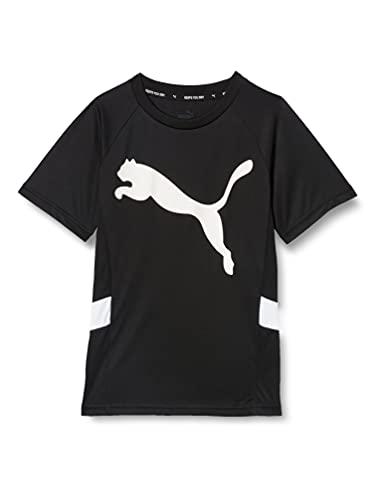 PUMA Jungen Active Sports Cat Poly Tee B T-shirt, Black, 152