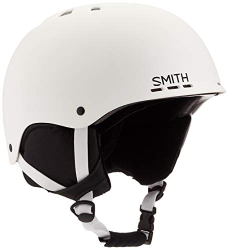 SMITH Herren Helm Holt Skihelm, Weiß matt/Schwarz, L/59-63