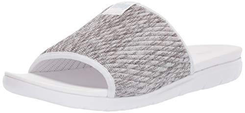 FitFlop Women's ARTKNIT Slide Sandal, white mix, 7 M US