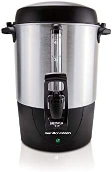 Hamilton Beach 45 Cup Fast Brew Coffee Urn and Hot Beverage Dispenser Stainless Steel 40521 product image