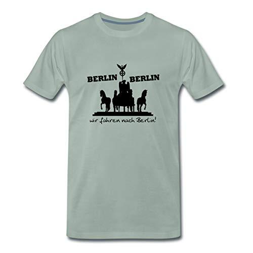 Berlin Berlin wir Fahren nach Berlin Männer Premium T-Shirt, XL, Graugrün