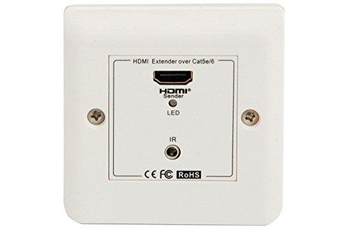 AVL100 - HDMI OVER NETWERK KABEL EXTENDER WALLPLATE, CONVERT HDMI SIGNAL NAAR Cat5e/6 TMDS