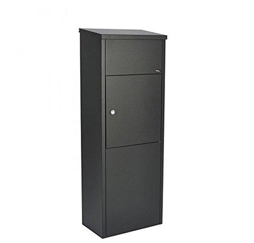 Allux 600 Paketbriefkasten F54612 - XXL Paketbox aus galvanisiertem Stahl, Schwarz
