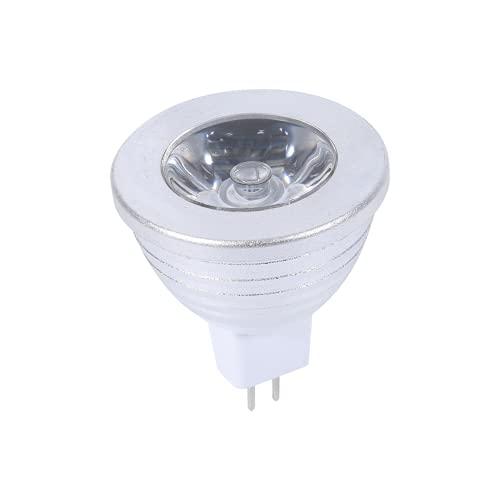 Bombillas LED Regulables, MR16 3W RGB Luz LED 12V-24V con Control Remoto Durable Adecuado para Estudio, Club Privado, iluminación de Entretenimiento, Escena de Paisaje, Fiesta