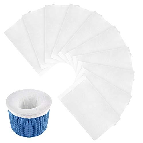 Aiglam Prefiltro para Skimmer Piscina, Paquete de 20 Calcetines de Skimmer para Piscina, Filtro Skimmer de Nailon Reutilizable y Súper Elástico para Bomba de Piscina, Cesta Skimmer