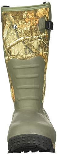 Rocky Men's Sport Pro Rubber 1200G Insulated Waterproof Outdoor Boot Knee High, Mossy Oak Break Up Country, 10 M US