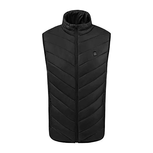 Luminous1128 Mens USB Infrarot Heizung Weste Jacke Winter Outdoor Kohlefaser elektrische thermische Kleidung beheizte Weste waschbar kalt-Proof für Sport Wandern Klettern eine Taste