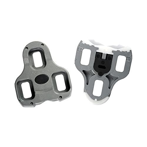 LOOK Cycle - Tacchette da BICI KEO Cleat - Funzione Memoria di Posizione - Compatibili con i Pedali sul Mercato - Peso Minimo, Ingombro Ridotto - Libertà Angolare 4,5°- Gris