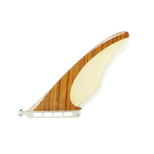 Zhaolan-Digital Tester Accesorios de Surf 10 Inch Single bambú/Madera/Carbono Tabla de Surf Fin Fin Carrera for el Surf (Color : 3)